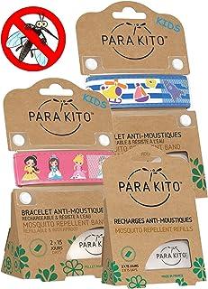 Parakito - Modelo para NIÑO - PROTECCION NATURAL ANTIMOSQUITO - KIT 2 x Para'kito Pulsera repelente de mosquitos (Rosado et Azul) + 1 x Recarga Para'kito Para Pulsera