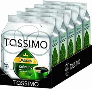 TASSIMO Jacobs Kronung Coffee Capsules Refills Pods T-Discs Pack of 5, 80 Drinks