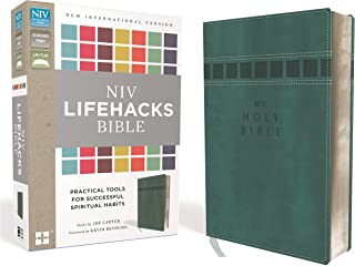 NIV, Lifehacks Bible, Leathersoft, Teal: Practical Tools for Successful Spiritual Habits