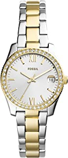 Fossil Scarlette Mini Women's Gold Dial Stainless Steel Analog Watch - ES4319