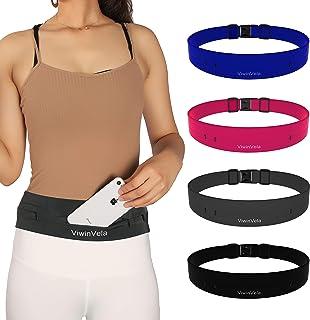 VIWIN VELA Running Belt Waist Pack Ultra-Light Adjustable Phone Holder Money Belt for Women Men Jogging Cycling Travel