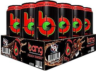Bang Peach Mango Energy Drink, 0 Calories, Sugar Free with Super Creatine, 16oz, 12 Count