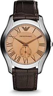 Men's AR1704 Classic Champagne Dial Brown Leather, Watch