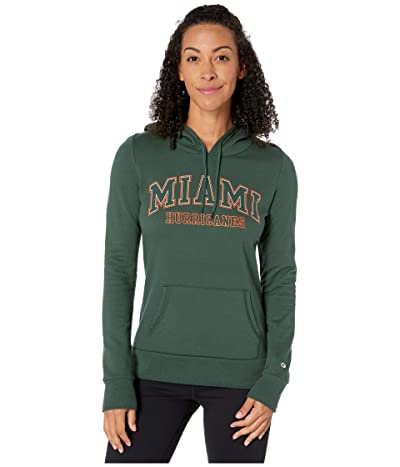 Champion College Miami Hurricanes Eco(r) University Fleece Hoodie (Dark Green 1) Women