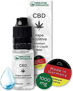 Base líquida de primera calidad CBD de Breathe Organics® | Base líquida para cigarrillos electrónicos 1000 mg CBD de Alemania | 1000 mg de cannabidiol | 100% PG | libre de nicotina | Hecho en alemania