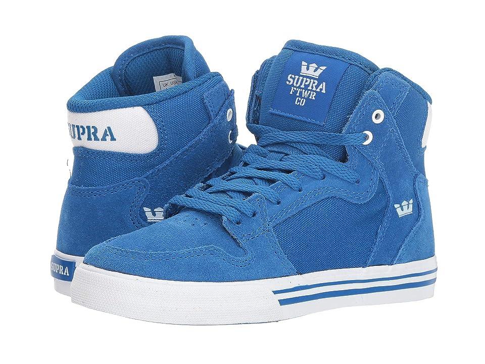 Supra Kids Vaider (Little Kid/Big Kid) (Ocean/White/White) Boys Shoes