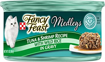 Purina Fancy Feast Medleys Tuna & Shrimp Recipe Wet Cat Food Can 85g (24 Cans)