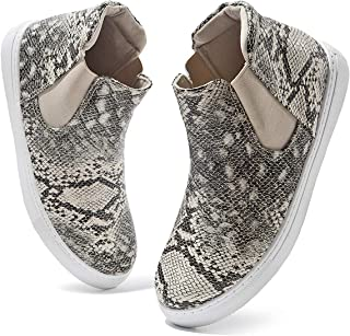 ZGR Women's High Top Slip on Sneakers Ankle Booties