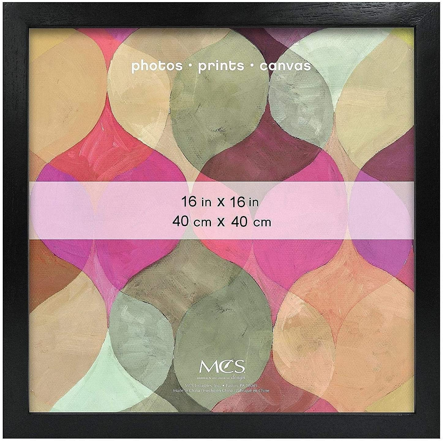 Art Shadow-Box .75in Depth Black Wood Cheap super special price 16x16 r by MCS 16 - Frame Ranking TOP17