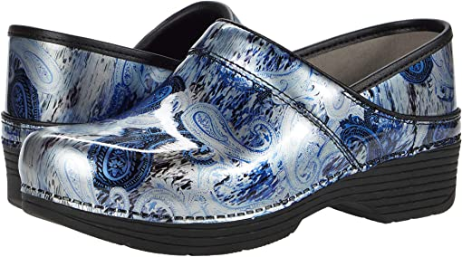 Silver/Blue Paisley Patent