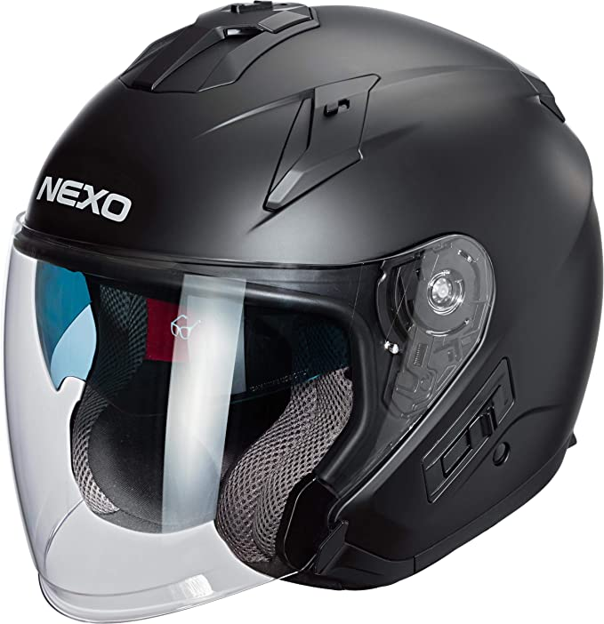 Nexo Jethelm Motorradhelm Helm Motorrad Mopedhelm Jethelm Comfort Unisex Chopper Cruiser Ganzjährig Thermoplast Bekleidung