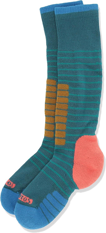Eurosock Unisex Youth Little Kids Supreme Junior Ski Socks, 2X-Small, Teal/Blue