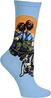 Women's Norman Rockwell Collection Crew Socks