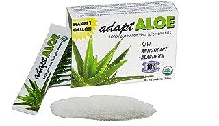 adaptALOE 100% Pure Aloe Vera Juice Crystals,Organic, Inner Leaf Fillet, gallon
