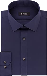 Men's Dress Shirt Slim Fit Stretch Solid
