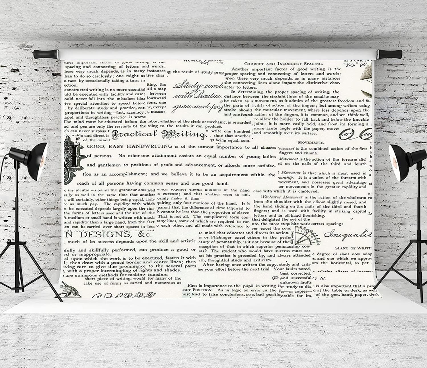 DAOPUDA Photography Background Discount is also underway Handwriting Max 41% OFF Decor Newspaper Party