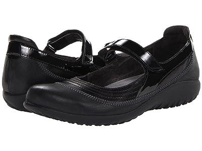 Naot Kirei (Black Madras Leather/Shiny Black Leather/Black Patent) Women