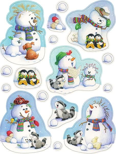 Eureka Playful Snowmen Clings