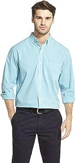 Men's Button Down Long Sleeve Stretch Performance Gingham Shirt