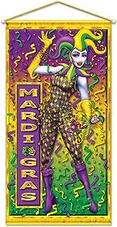 Mardi Gras Door/Wall Panel Party Accessory (1 count) (1/Pkg)