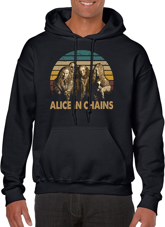 人気上昇中 90s Alternative Metal Band Alice-in Chains Gildan Unisex Hoodie 絶品