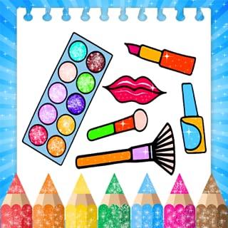 Coloring Book Glitter MakeUp