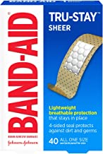 Band-Aid Brand Tru-Stay Sheer Strips Adhesive Bandages for First Aid and Wound Care, All..