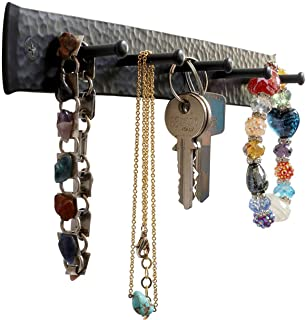 Wrought Iron Key Holder for The Wall – Handmade Hat, Towel, Leash, Jewelry and Keys Rack, Wall...