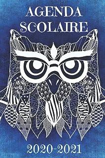 AGENDA SCOLAIRE 2020-2021: Agenda Chouette Harry thème Magie Sorcellerie primaire..