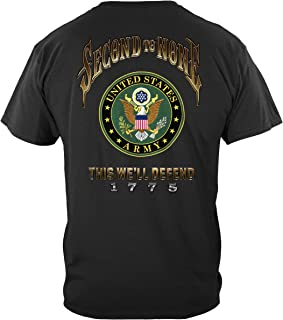 Erazor Bits Army Veteran | US Army Second to None T Shirt MM2329
