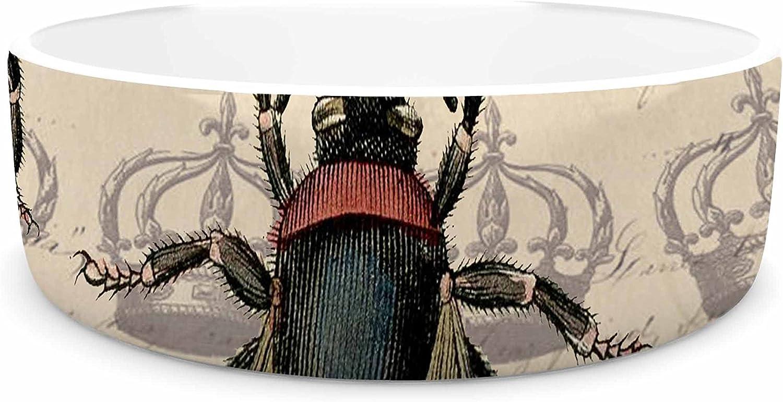 KESS InHouse Suzanne Carter Queen Bee  Black Tan Pet Bowl, 7