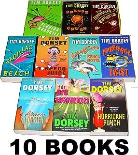 Tim Dorsey 10 Book Set: Triggerfish Twist, Florida Roadkill, Hammerhead Ranch Motel, the Stingray Shuffle, Orange Crush, Cadillac Beach, Torpedo Juice, the Big Bamboo, Hurricane Punch, Atomic Lobster