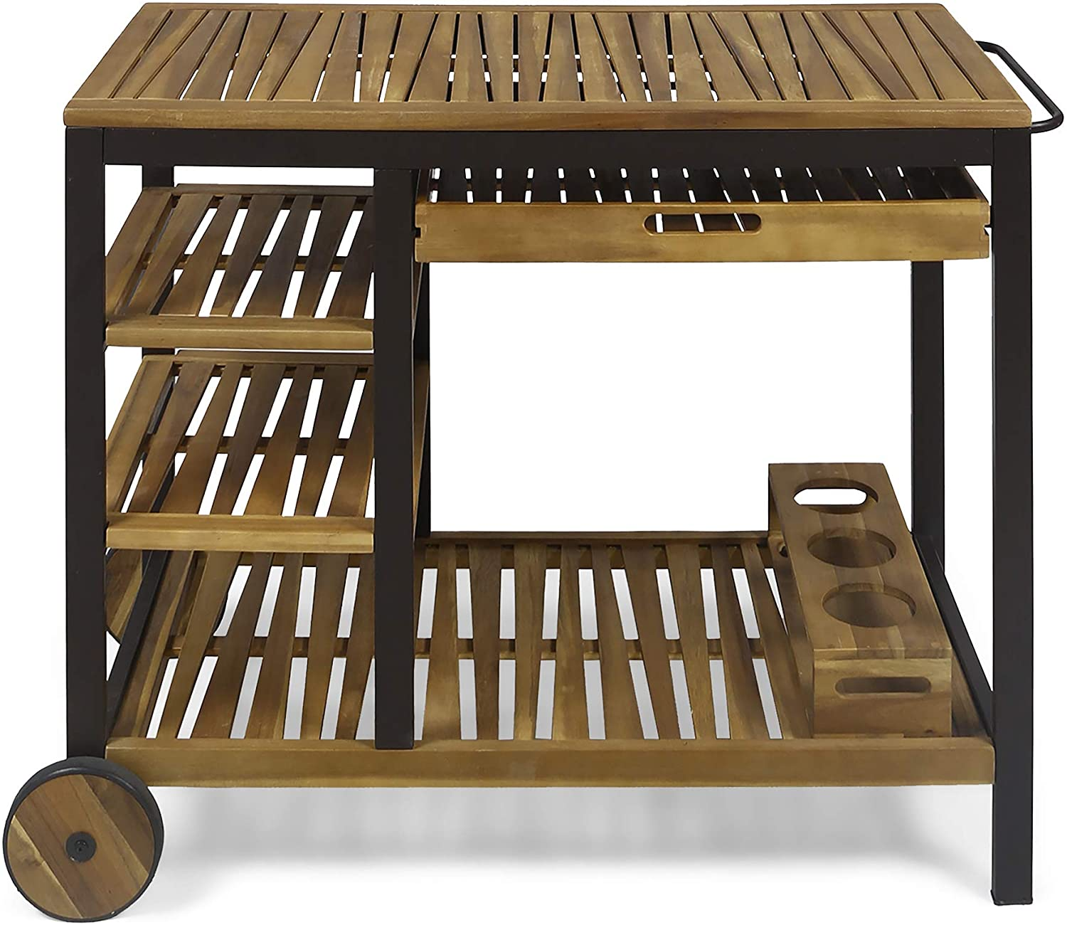 Christopher Knight Home 308856 Challenge the lowest price of Japan Ishtar Outdoor Bar Phoenix Mall Teak Cart Fin