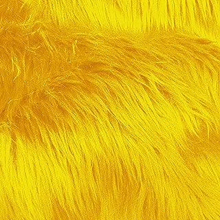 Luxury Shag 60 Inch Fabric by the Yard (F.E. (Yellow)