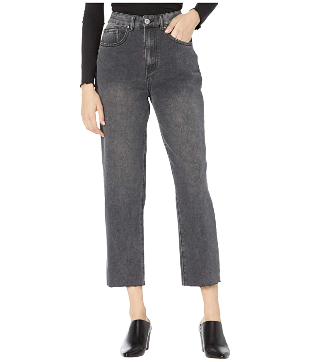 COTTON ON Teen Straight Leg Jeans in Super Wash Black (9356704856216)