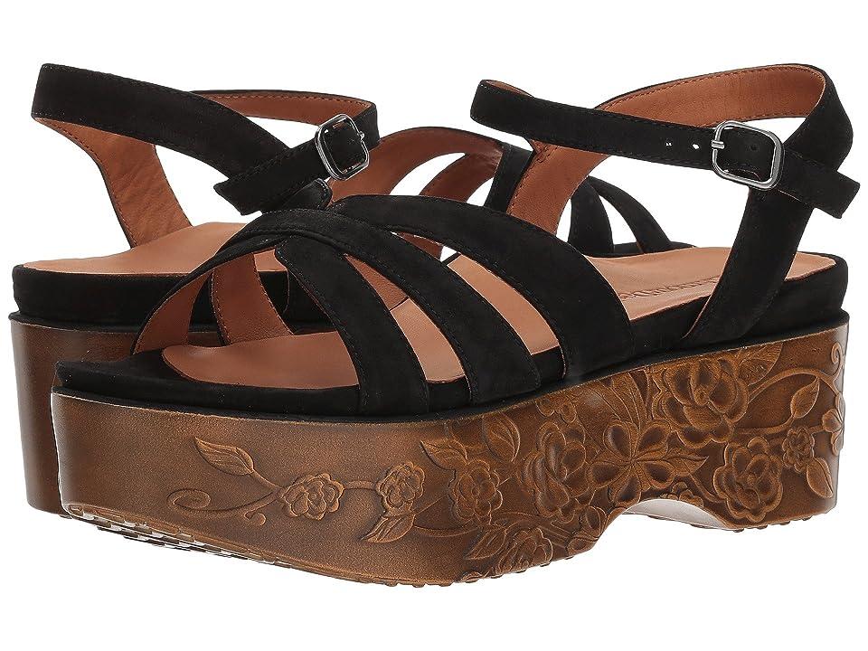 L'Amour Des Pieds Gillon (Black Nubuck) Women's Sandals