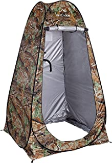 Your Choice Pop Up Tent, Portable Shower Changing Toilet Privacy Room for Camping, Beach, Outdoor and Indoor, 6.2 ft Tall with Carrying Bag