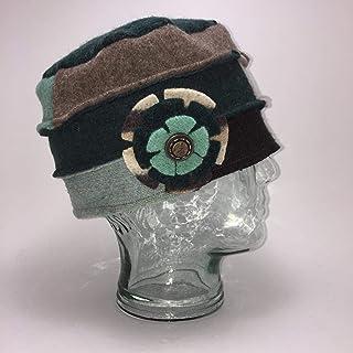 product image for Baabaazuzu Women's Wool Tan, Black & Light Blue Cloche Hat