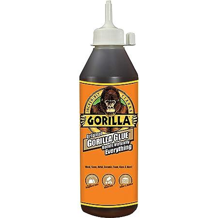 Gorilla 5021801 Waterproof Polyurethane Glue, 18 ounce Bottle, 1-Pack, Brown
