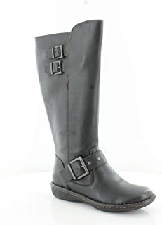 Womens Oliver Fabric Closed Toe Mid-Calf Fashion Boots, Black, Size 6.5