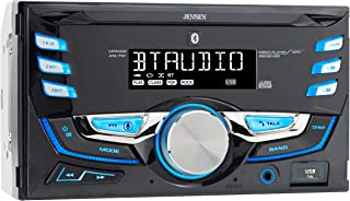 $39 » Jensen MPR420 7 Character LCD Double DIN Car Stereo Receiver | Push to Talk Assistant | Bluetooth | USB Fast Charging