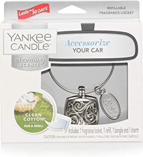 Yankee Candle Company Yankee Candle Fragrance Spheres Clean Cotton, Flameless, Clear, White, Charming Scents Square Kit