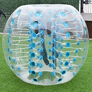 Costzon Bubble Soccer Ball, Dia 5 ft (1.5m) Human Hamster Ball, Thick 8mm PVC Transparent Inflatable Bumper Ball Zorb Ball for Teens and Adults