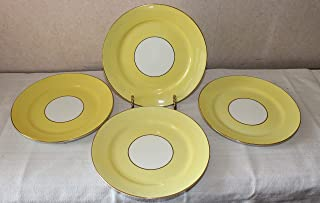 Vintage Aynsley Yellow Gold and White Lunch Salad Plates – Set of 4