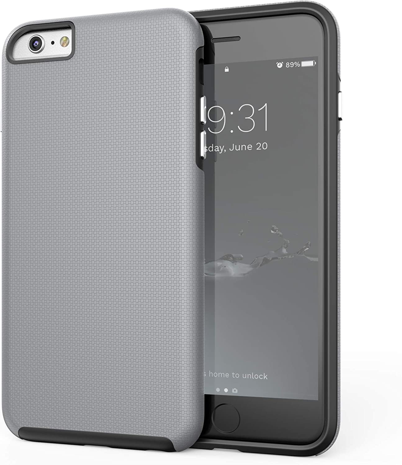 Crave iPhone 6S Plus Case, Dual Guard Protection Series Case for iPhone 6 6s Plus (5.5 Inch) - Grey