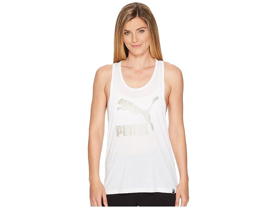 PUMA Classics Logo Tank Top (PUMA White) Women