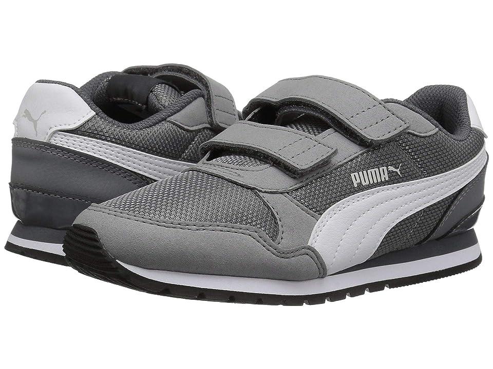 Puma Kids ST Runner V2 Mesh V (Little Kid) (Steel Gray/Puma White) Boy