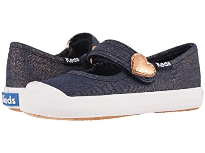 Keds Kids Harper (Toddler/Little Kid) (Denim Sparkle) Girl