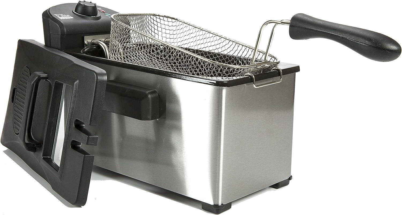 Stainless Steel Elite Cuisine EDF-3507 Maxi-Matic 3.5 quart Immersion Deep Fryer