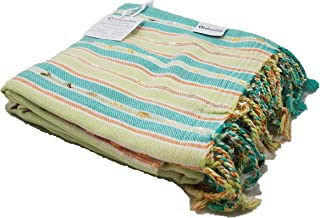InfuseZen Oversized Turkish Peshtemal Bath Towel in Modern Stripes, Extra Large Turkish Towel, 100% Cotton Fouta Towel, Thin and Absorbant Bath Sheet, Pool Towel or Beach Throw (Special Edition Mint)